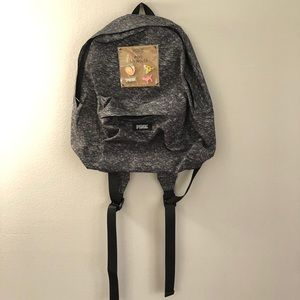 PINK Victoria's Secret backpack with pin set